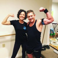 Chris Hendren of Fit Life Wellness and her B3 blood flow restriction bands